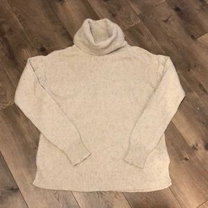 J.Crew Chunky classic marbled Turtleneck Sweater